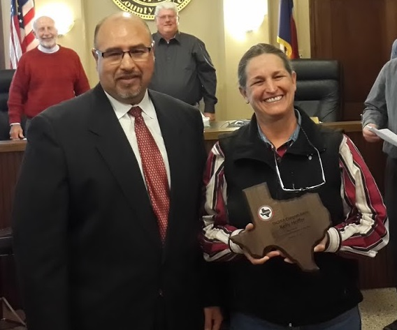 Kelly Hoffer, County Employee of the Year